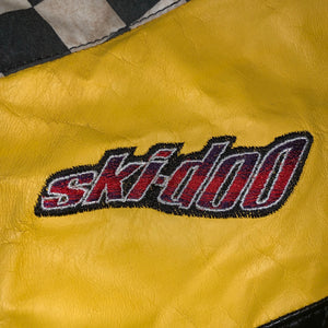 M - Vintage Ski-Doo Team Racing Leather Snowmobile Jacket