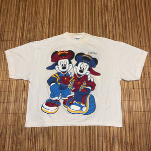 Boxy(See Measurements) - Mickey Mouse Double Sided Florida Shirt