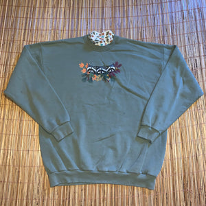 XL/XXL - Vintage Racoon Mock Neck Sweater