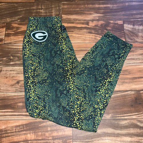 M - Vintage Green Bay Packers Zubaz Pajama Pants