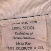 Load image into Gallery viewer, Size 38 - Vintage 1940s 100% Wool Hunting Pants