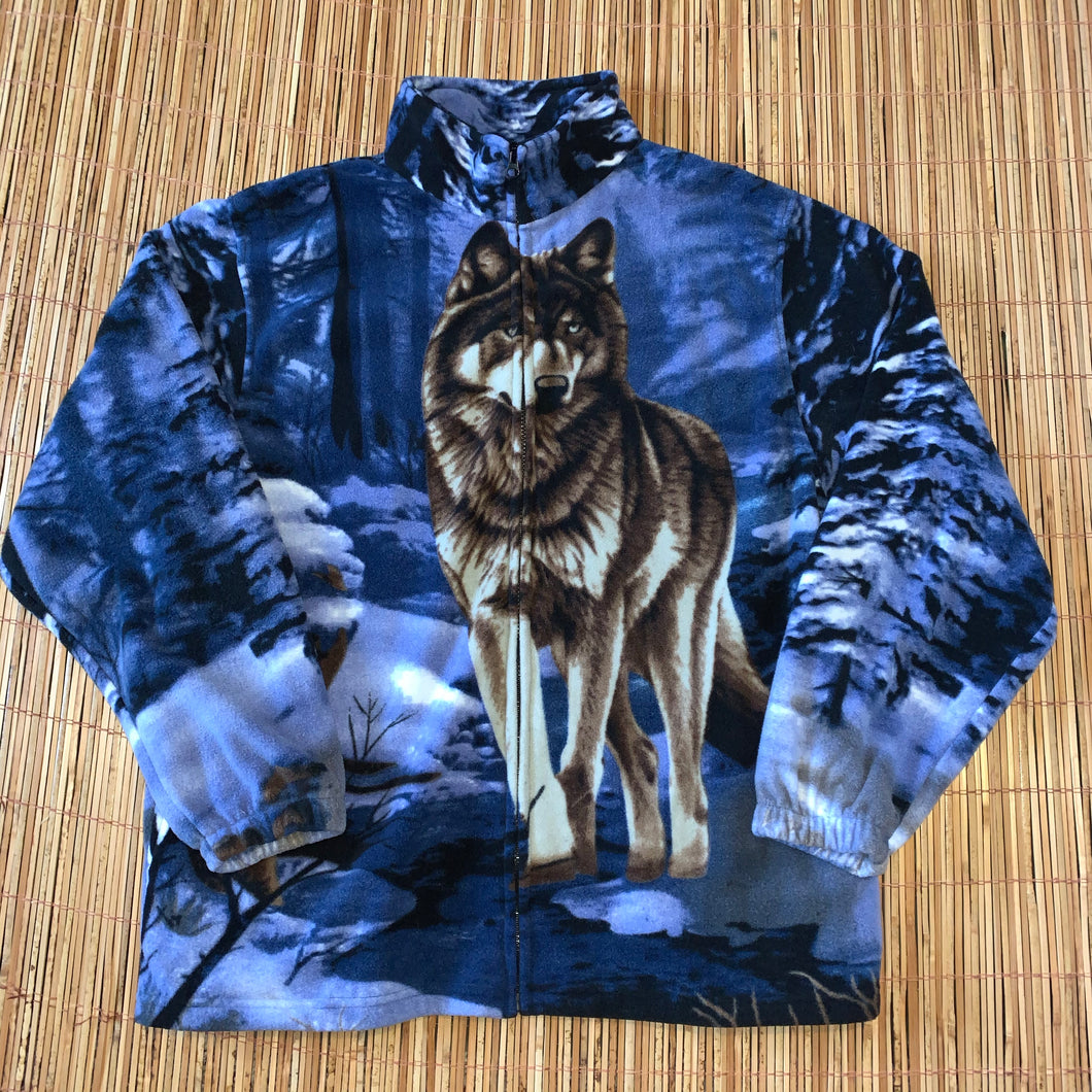 XL - Trail Crest Wolf Zip Fleece