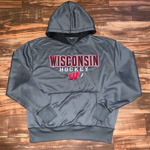 L - Wisconsin Badgers Stitched Hockey Hoodie
