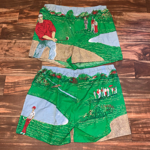 Size 36/XL - Vintage All Over Print Golf Boxer Shorts