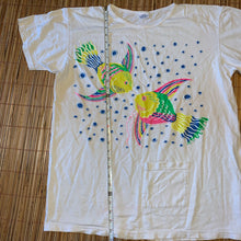 Load image into Gallery viewer, XL(See Measurements) - Vintage Fish Aqua Colorful Graphic Shirt