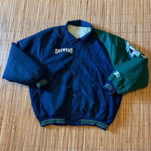 M/L(See Measurements) - Vintage Milwaukee Brewers Starter Jacket