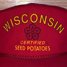 Load image into Gallery viewer, Vintage Wisconsin Seed Potatoes Strapback Hat