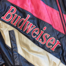 Load image into Gallery viewer, XXL - Vintage Budweiser Pro Player Leather Jacket