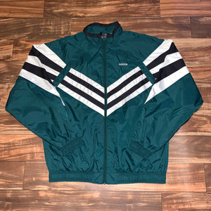 XL/XXL - Vintage Adidas Full Zip Windbreaker