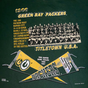 XL/XXL - Vintage Green Bay Packers 1966 Super Bowl Team Shirt