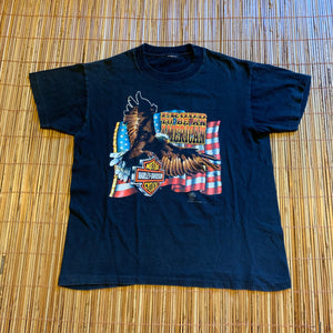 Youth/Women's - Vintage 1988 Harley Davidson Proud American Shirt