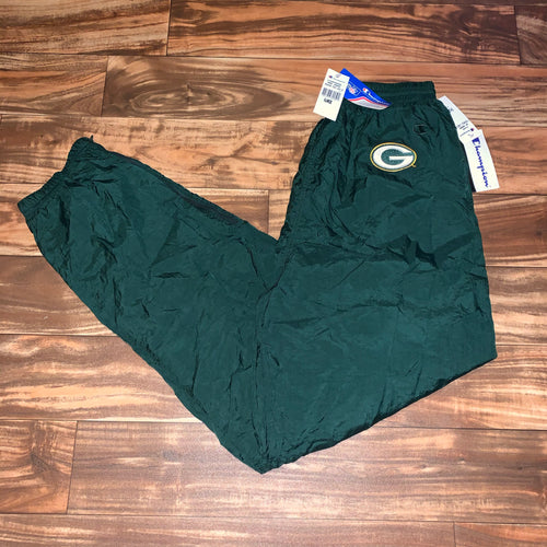 L/XL - Vintage NWT Green Bay Packers Champion Windbreaker Pants
