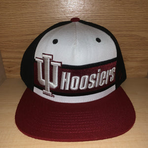 Indiana Hoosiers Leather Strapback Hat