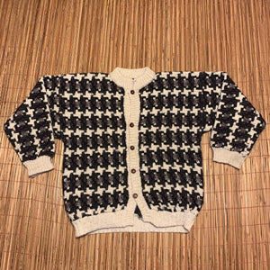 L/XL - Vintage Indian Weavings Exotic Pattern Sweater