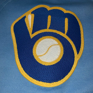L - Vintage Milwaukee Brewers Embroidered Ryan Braun Jersey