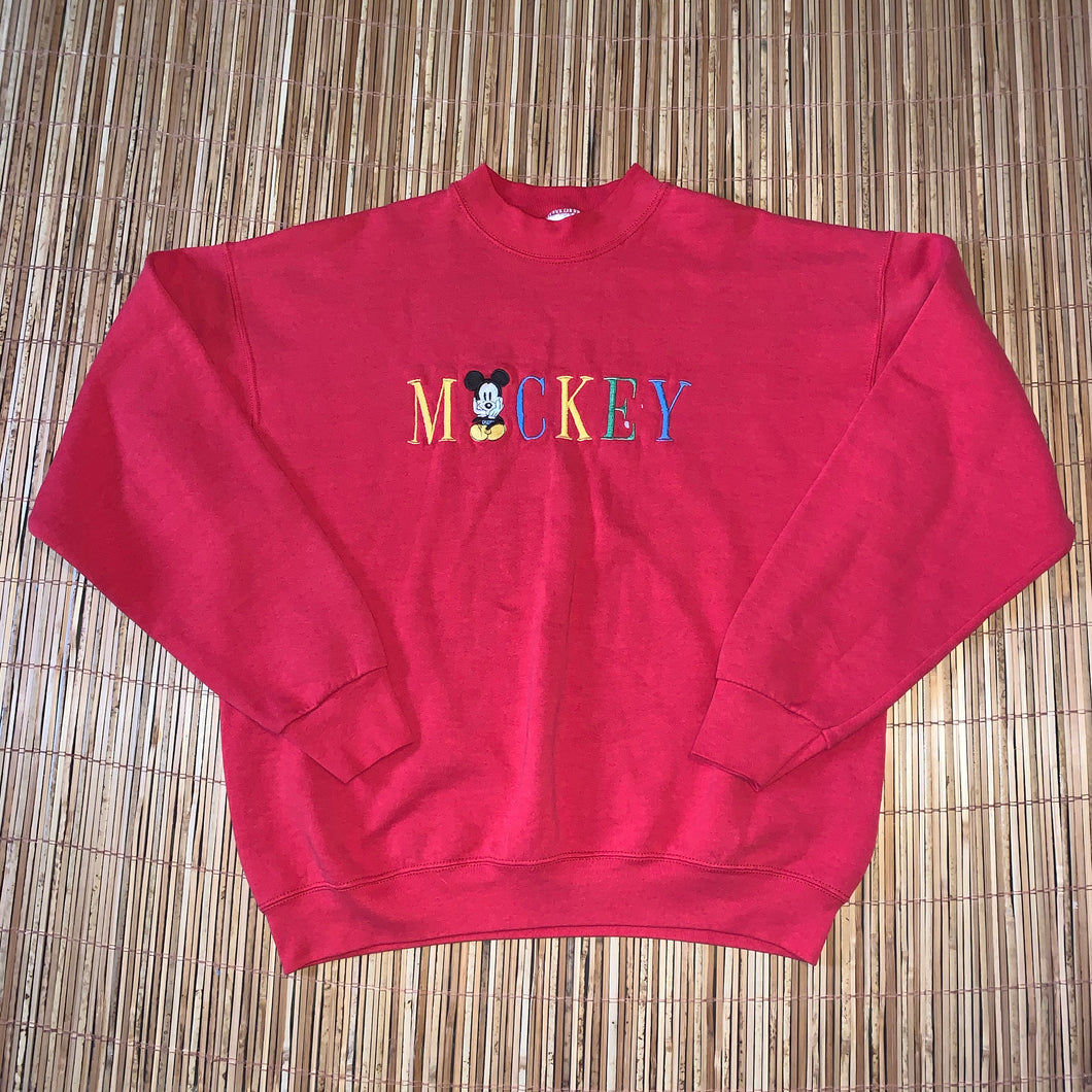 XL - Vintage Embroidered Mickey Mouse Sweater