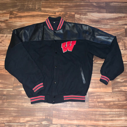 XL - Wisconsin Badgers Stitched Quilted Varsity Jacket