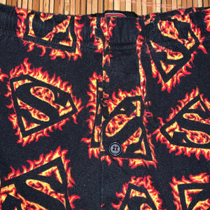 M - Superman Flame Pajama Pants