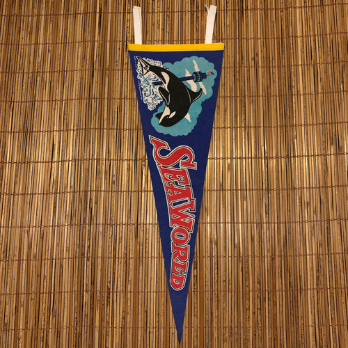 Vintage 1978 Sea World Pennant