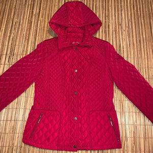 Women's L - Calvin Klein Quilted Puffer Jacket W/ Removable Hood