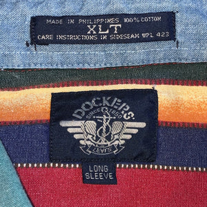 XLT - Dockers Crazy Pattern Button Up Shirt