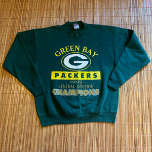 XL - Vintage 1995 Green Bay Packers Central Division Champs Crewneck