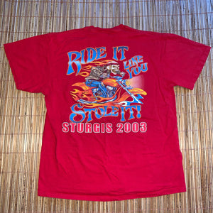 L - Sturgis 2003 Ride It Like You Stole It Shirt