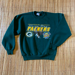 M - Vintage 90s Packers Super Bowl Sweater