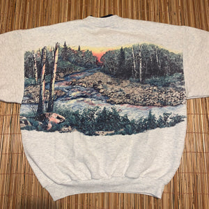 L/XL - Vintage North Woods Double Sided Sweater