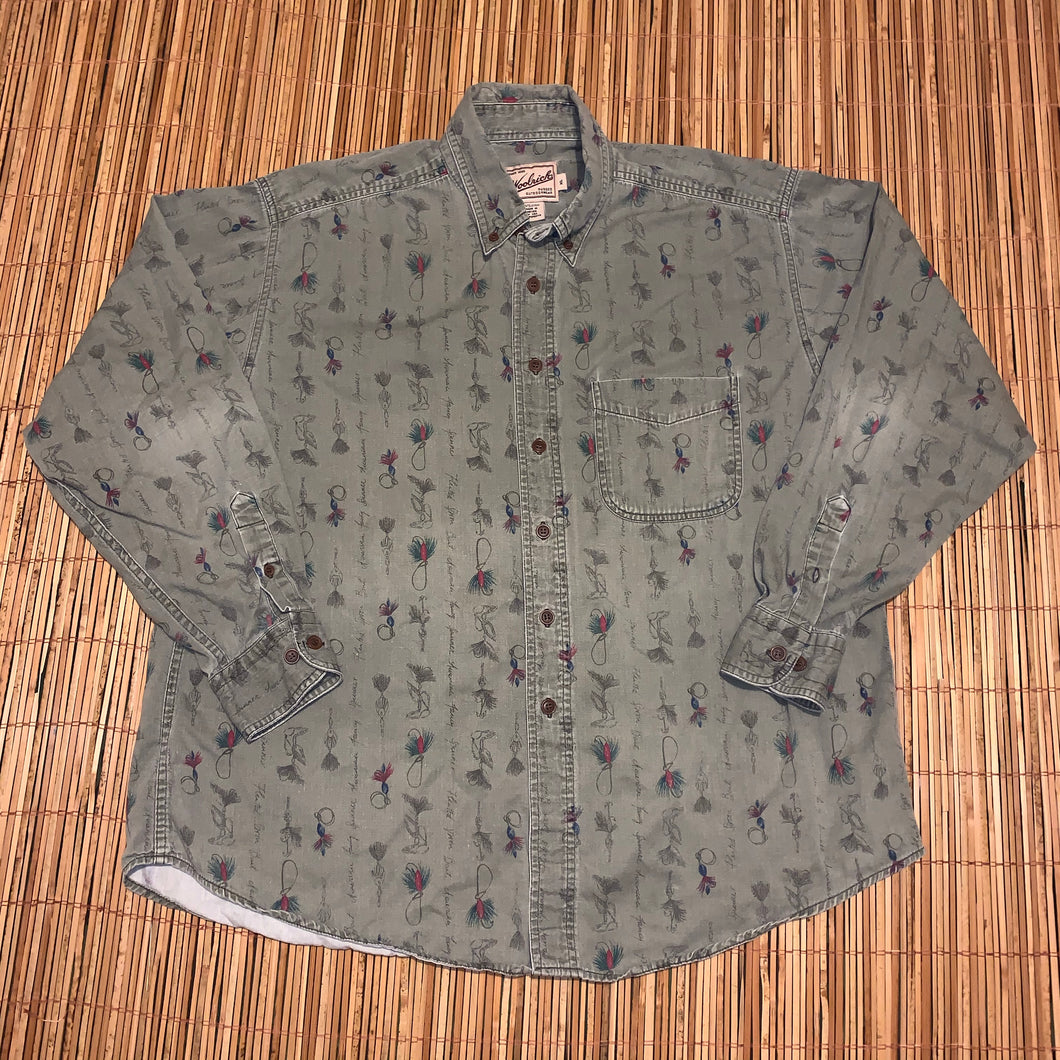 XL - Woolrich Fishing Button Up Shirt