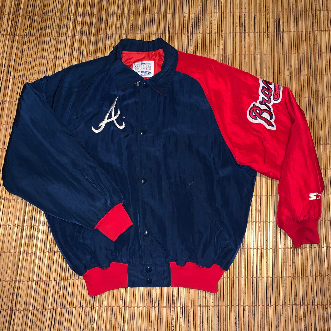 M(See Measurements) - Vintage Atlanta Braves Starter Jacket