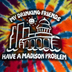 S - Madison WI Drinking Problem Tank Shirt