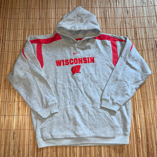 Youth L - Wisconsin Badgers Nike Center Check Hoodie