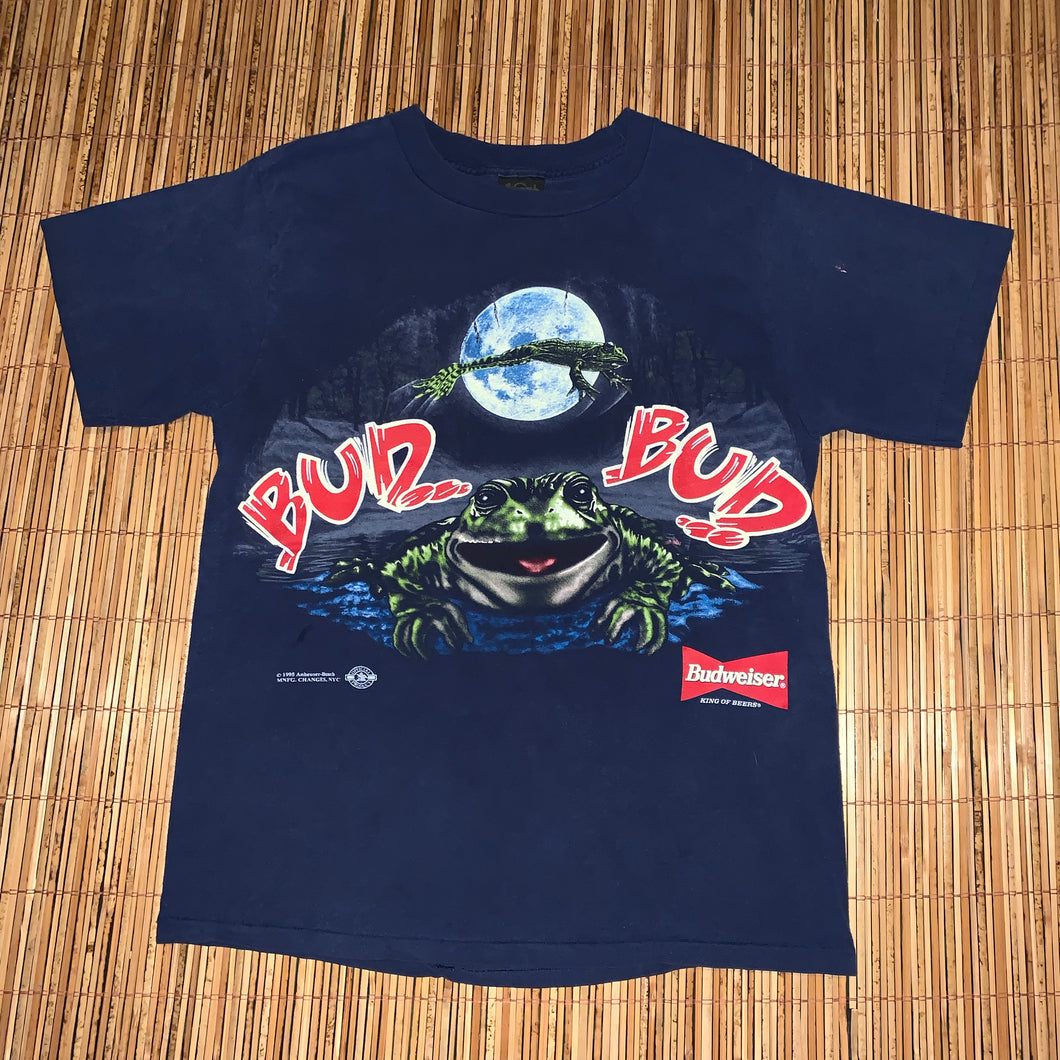 L - Vintage 1995 Budweiser Frogs 2-Sided Shirt