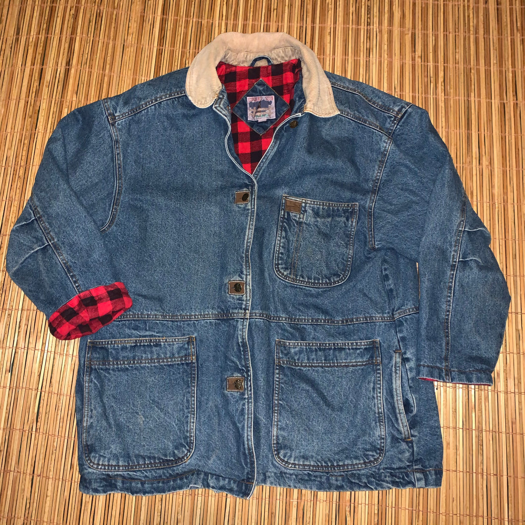 Women's 16W - Vintage Denim Flannel Lined Jacket