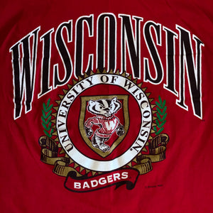 M(Fits L-See Measurements) - Vintage Wisconsin Badgers Shirt