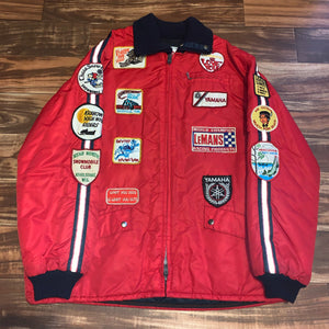 XL - Vintage Yamaha Snowmobiling Patch Jacket