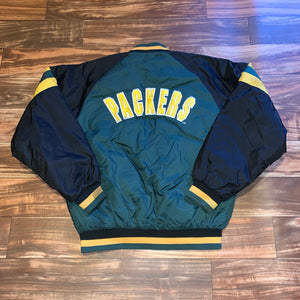 L/XL - Vintage Reversible Green Bay Packers Jacket