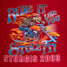 Load image into Gallery viewer, L - Sturgis 2003 Ride It Like You Stole It Shirt