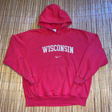 Load image into Gallery viewer, XL/XXL - Vintage/Early 2000s Stitched Nike Wisconsin Hoodie