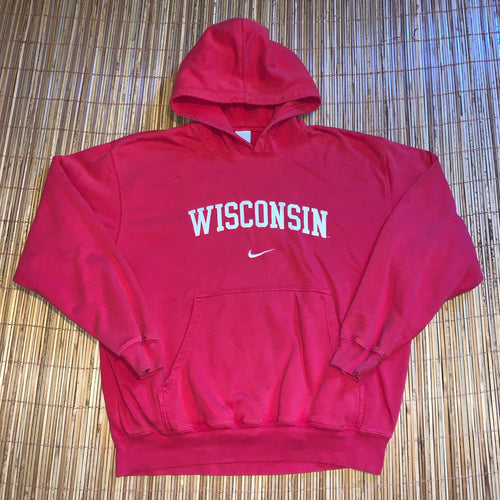 XL/XXL - Vintage/Early 2000s Stitched Nike Wisconsin Center Swoosh