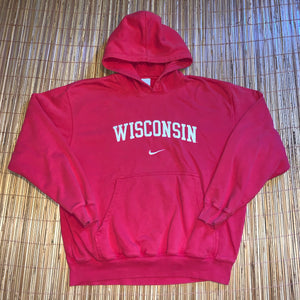 XL/XXL - Vintage/Early 2000s Stitched Nike Wisconsin Hoodie