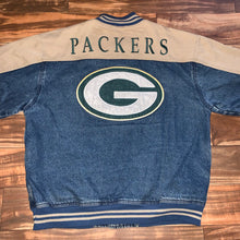 Load image into Gallery viewer, L/XL - Vintage Green Bay Packers Denim Lee Jacket