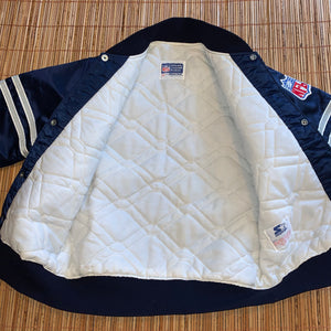 S/M - Vintage Dallas Cowboys Quilted Satin Starter Jacket