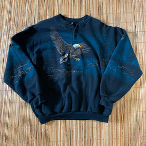 M(See Measurements) - Vintage 1992 All Over Print Eagle Sweater