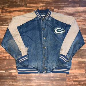 L/XL - Vintage Green Bay Packers Denim Lee Jacket