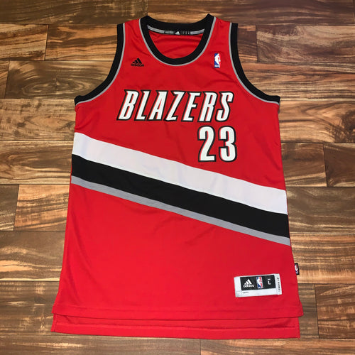 Long L - Marcus Camby Portland Trailblazers Rare Stitched Adidas Jersey