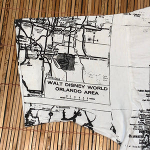 L - Vintage All Over Print Florida Map Shirt