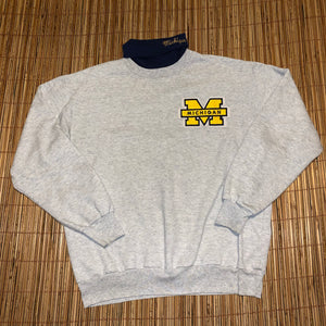 L - Vintage Embroidered Michigan Sweater