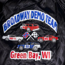 Load image into Gallery viewer, M/L - Vintage Green Bay Demo Team Satin Jacket